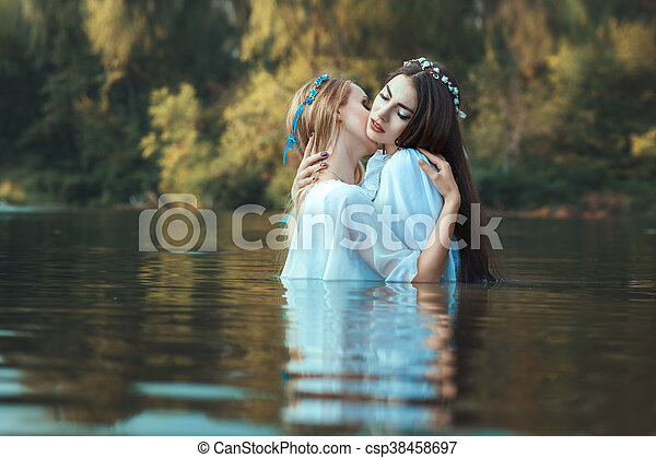 Free teen lesbian sex while standing Two Women Caress Each Other Two Women Lesbians Caress Each Other While Standing In Water Canstock