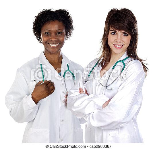 Two women doctor - csp2980367
