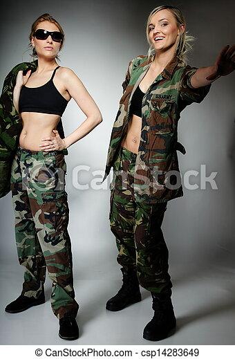Two women in military clothes 1e5b4e2304