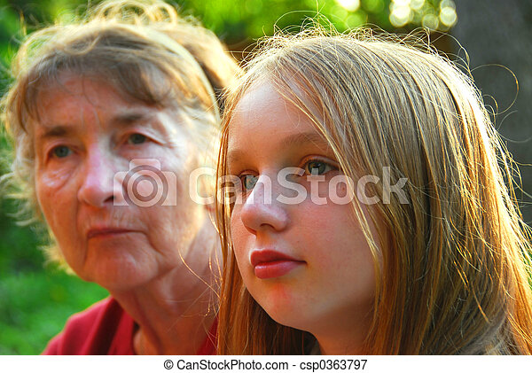 Two women - csp0363797