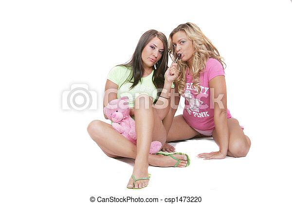 Girls sleeping without panties