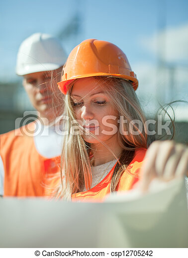 two workers  - csp12705242