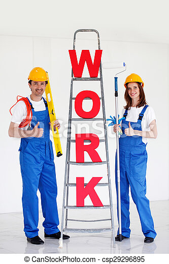 two workers - csp29296895