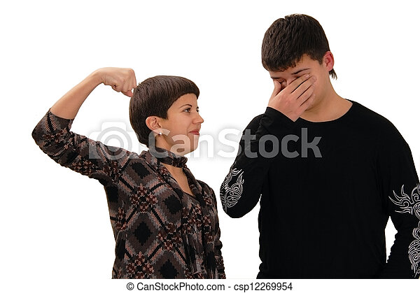 Two Young People Wrestle Csp12269954