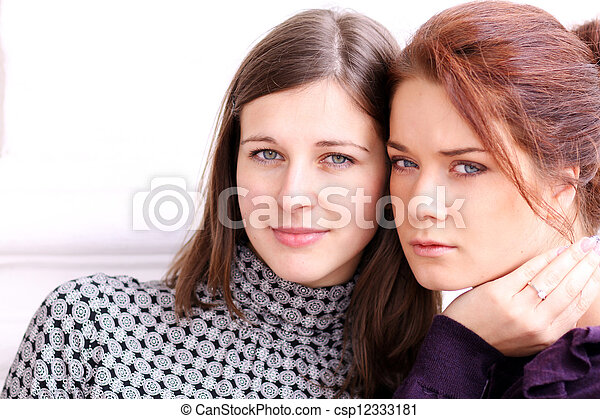 two young women - csp12333181