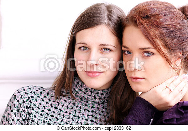 two young women - csp12333162