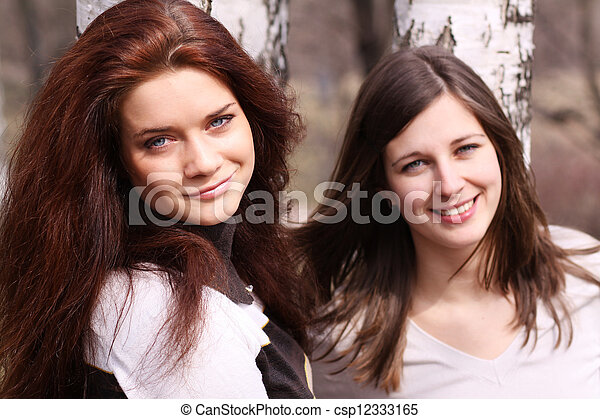 two young women - csp12333165