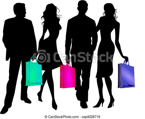 twosomes to go shopping - csp4028719