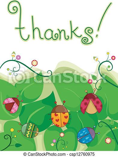 ty, dziękować, karta - csp12760975
