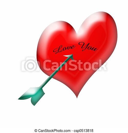ty, miłość, valentine - csp0513818