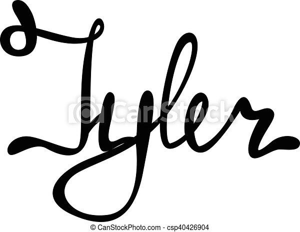 Vector Tyler Name Lettering