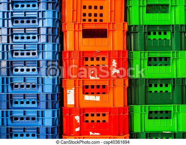 type of crate plastic box use to packaging - csp40361694