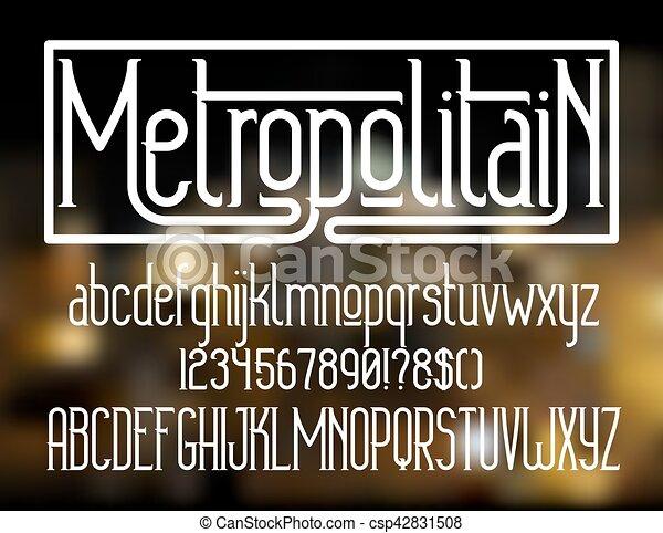 typeface, metropolitain, font , minimalistic