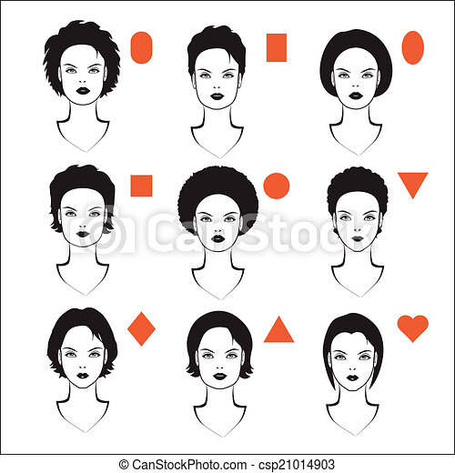 types of face shape - csp21014903
