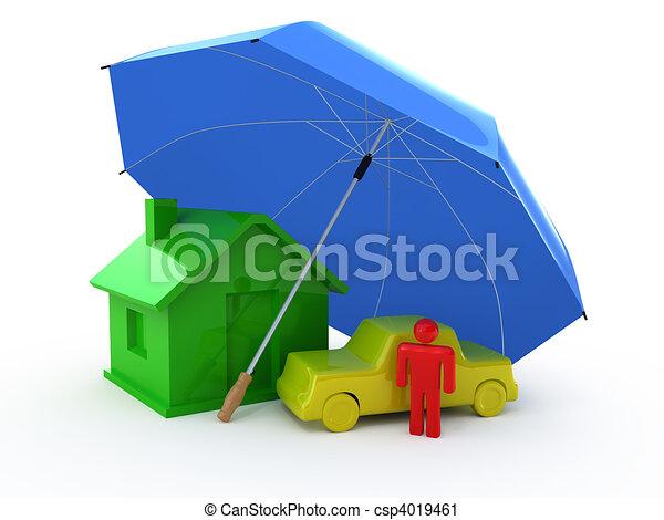 Types of Insurance - csp4019461
