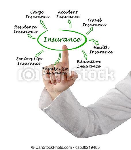 Types of insurance - csp38219485