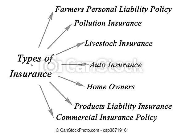 Types of Insurance - csp38719161