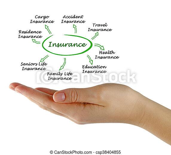 Types of insurance - csp38404855