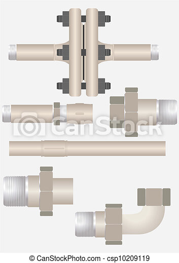 Types of pipe connections.  - csp10209119