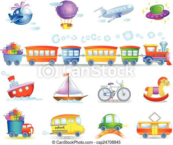 Types of transport - csp24708845