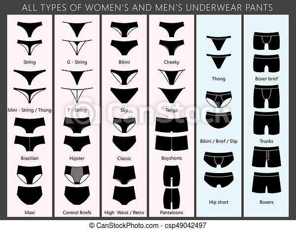 Types of women s and men s underpants.eps. All types of women s and ... c1f3e4ea2