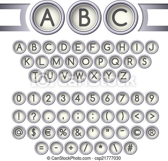 Typewriter buttons alphabet - csp21777030