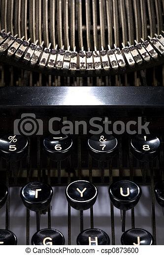 typewriter close up - csp0873600