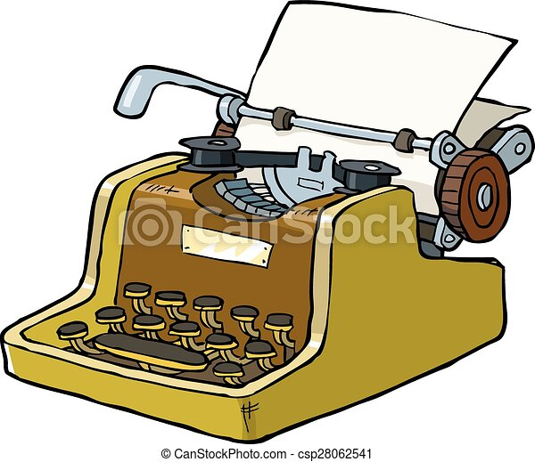 typewriter on a white background vector illustration eps vector rh canstockphoto com typewriter clipart free commercial use typewriter clipart png