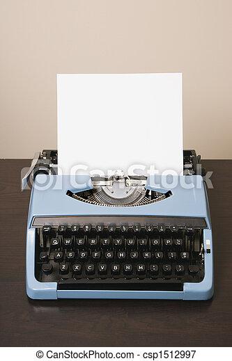 typewriter., fashioned velho - csp1512997