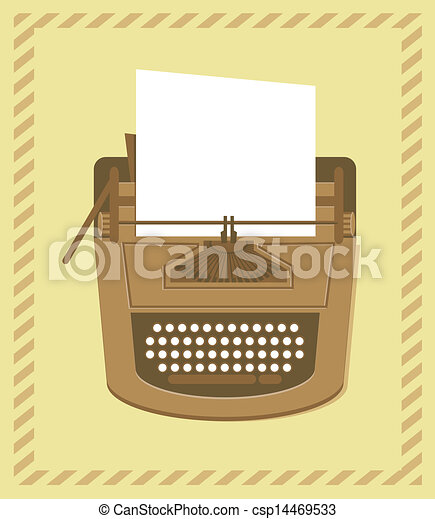 typewriter in retro style - csp14469533