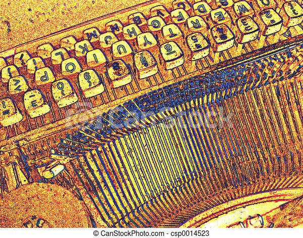 Typewriter Keys - csp0014523