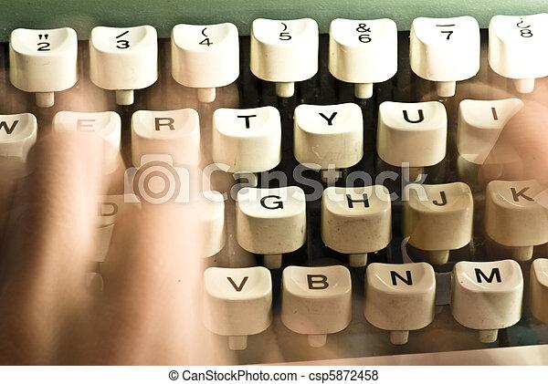typewriter - csp5872458