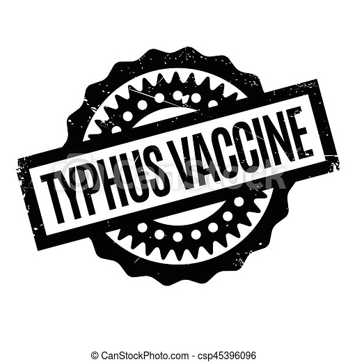 Typhus Vaccine Rubber Stamp Grunge Design With Dust Scratches