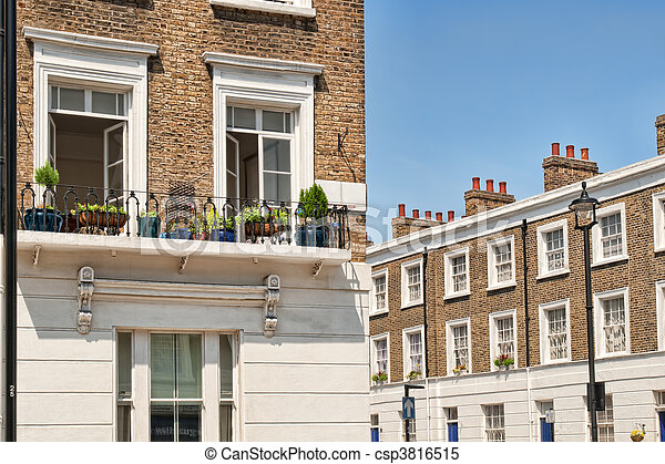 Typical Apartments Building at West-London, Kensington and Chelsea - csp3816515