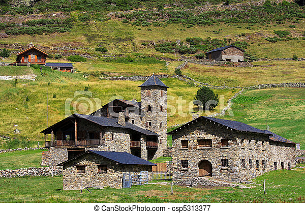 Typical architecture in Andorra - csp5313377
