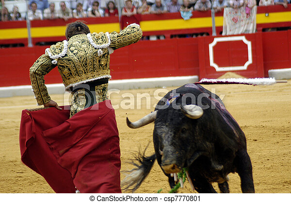 typical bullfight in Spain - csp7770801