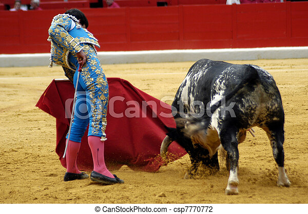 typical bullfight in Spain - csp7770772