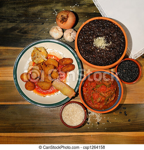 Typical cuban dishes - csp1264158