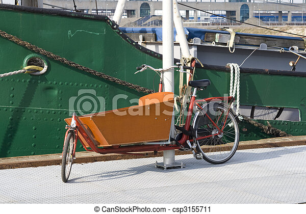 Typical Dutch carrier bicycle - csp3155711