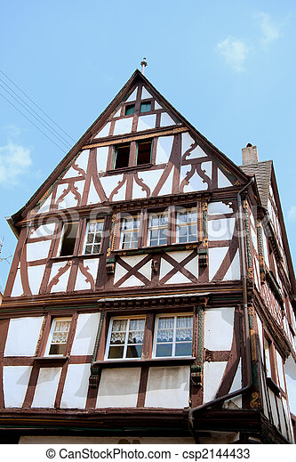 Typical German House Stock Photo