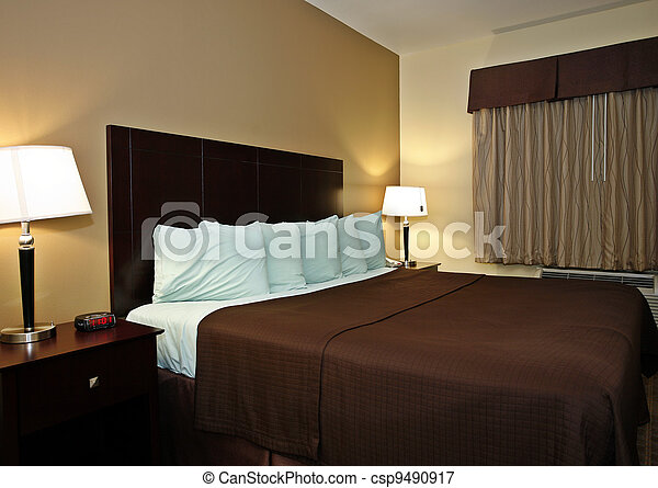 Typical hotel room  - csp9490917