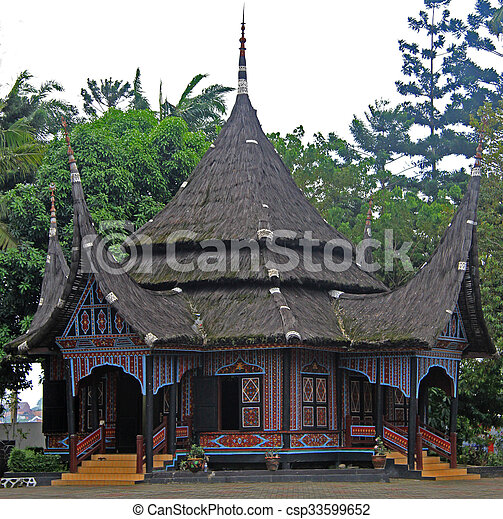 Typical Houses Of Some Tribes In Park Taman Mini Indonesia Jakarta