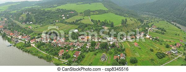 typical Slovak village - csp8345516