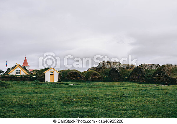 Typical small houses in Iceland. - csp48925220
