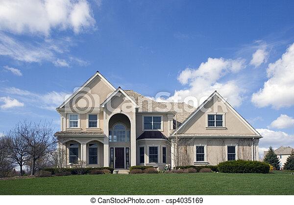 Typical SuburbanLuxury Brick House   Csp4035169