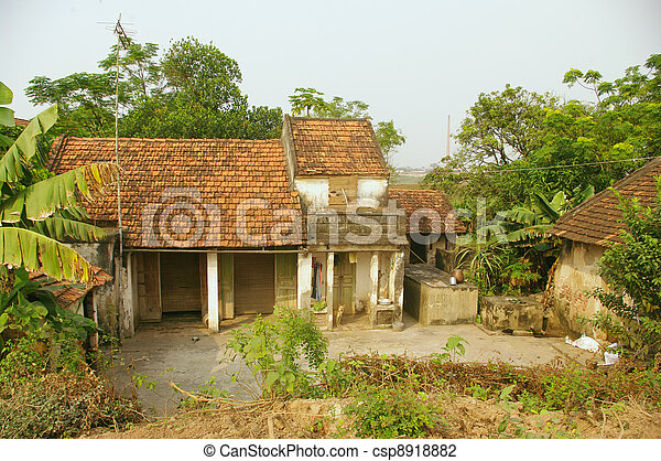 Typical Vietnamese House In Rural Villages In Vietnam The Houses Are Small And Tight Against Each Other The House Is