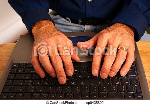 Typing Hands - csp0435802