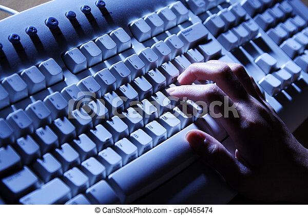 Typing on keyboard - csp0455474
