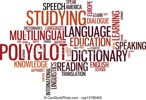 typographical, polyglot, wordcloud - csp13185450