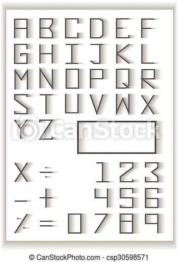 Typography Set Blend Fade Design Typography Number And Math Symbols